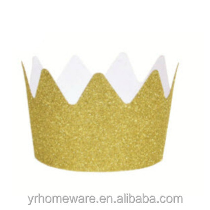 Gold silver glitter paper party crown