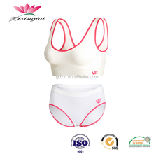 Wholesale OEM service young sexy girl wear bra panty set