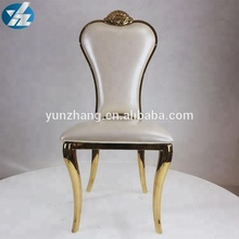 King and Queen Stainless Steel Throne Chairs Events Wedding Banquet