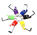 Hot sale plastic custom logo cheaper swivel usb flash drive 1gb 2gb 4gb