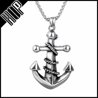 Silver Stainless Steel Anchor Seafarers Necklace Nautical Jewelry