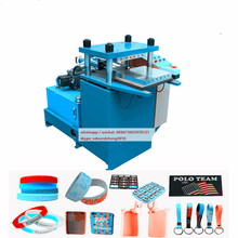 silicone rubber wristband making machine and product line