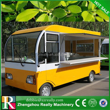 Modern Design Hand Push Mobile Food Vending Cart/ Manufature Fast Food Kiosk