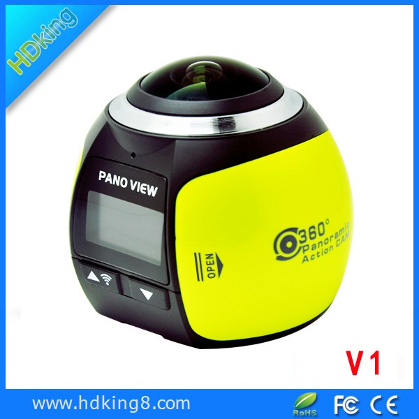 HDKing V1 Factory direct 360 degree 4K waterproof wireless sport action camera with remote control