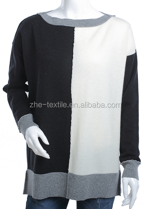 ladies' boat neck cashmere pullover sweater