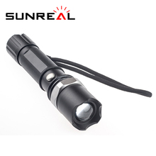 Manufacturer Wholesale emergency led torch 1101 police aluminum alloy flashlight multifunction light star cloth