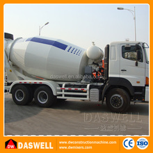 Truck mounted self loading diagram of concrete cement mixer truck