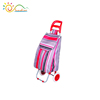 600D polyester with PVC coated folding trolley, 2 wheel trolley, trolley school bag