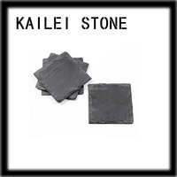 100% natural slate stone cup mat custom tea cup coaster