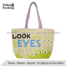Cotton canvas bag with zipper closure 12oz canvas tote bag Printed promotional canvas bags