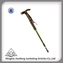GS/TUV APPROVED Al6061/7075/Carbon Fiberglass Rubber Handle Nordic Walking Sticks With LED Light