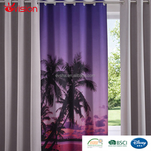 design curtains for lightout,polyester curtain, new design decoration digital print blackout curtain