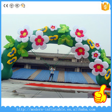 Decorated with flowers durable inflatable entrance arch for wedding ceremony