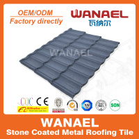 Wanael Bond 1340x420mm sand coated steel roofing materials Korean Style Building Tiles Roof