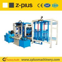 PLC control package QTY10-15 semi automatic cement brick making machine