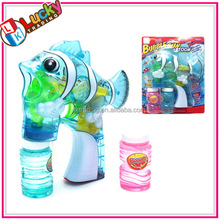Flashing Battery power toy transparent bubble gun with music
