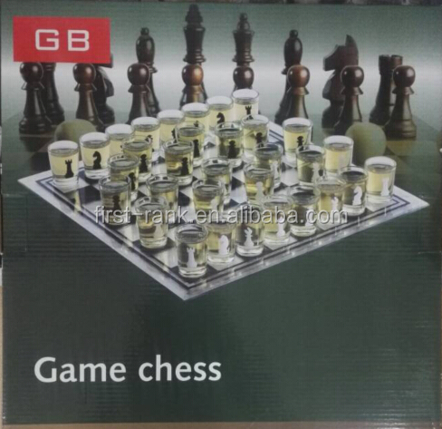 New premium board game with glass game chess for children and adults fun