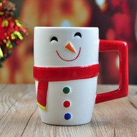 Creative christmas snowman model gift ceramic coffee mug