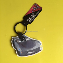 Promotional car shape key chain / custom pvc rubber keychain with led / plastic cars 3 silicone keychain