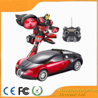 China RC Robot Toy Transform Robot Car for 2015 Chirstmas Gift Red Bugatti Toy