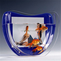 new products sexy mermaid acrylic aquarium for SUNSUN
