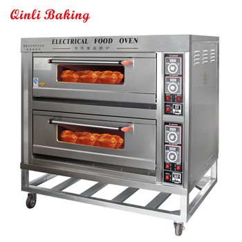 CE Approved commercial bakery electric oven for sale 2 decks 4 trays loaf bread baking oven