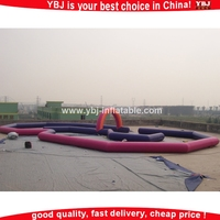 Outdoor game inflatable race track, inflatable zorb ball track, inflatable race /inflatable race track race car tracks for kids