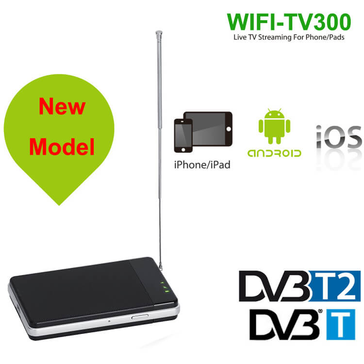 wifi radio receiver internet radio DVB-T2 WIFI Tuner DVB-T Receiver for Android and iphone IOS pad