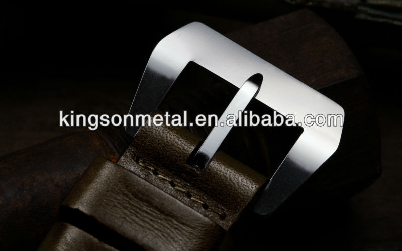 28mm Curved stainless steel sewn in watch buckle for German wrist watch