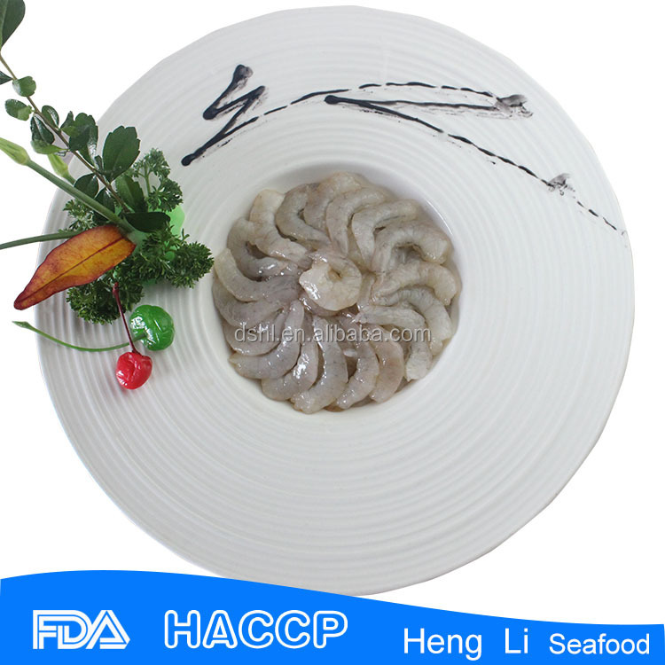 Factory price frozen raw peel undeveined red shrimp
