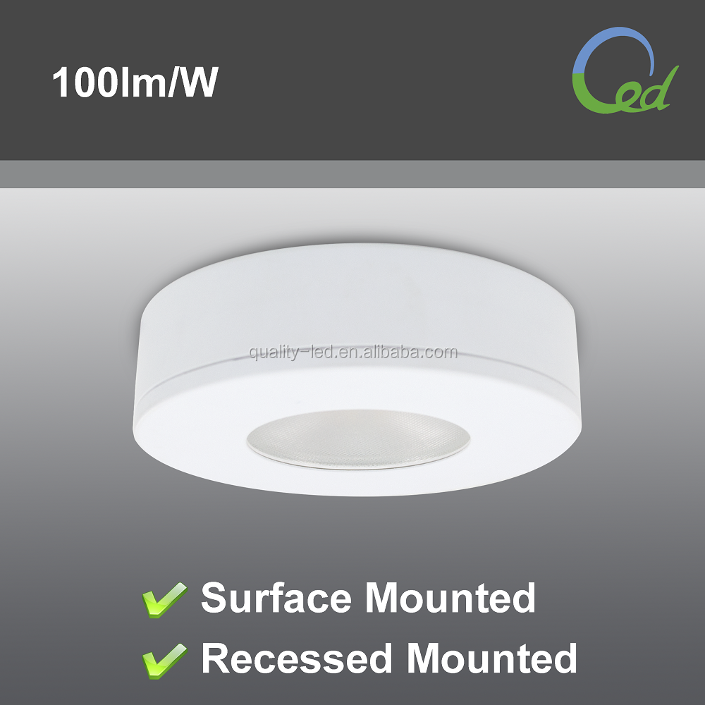 80mm surface/recessed mounted 3W IP44 12v closet lighting led <strong>downlight</strong>