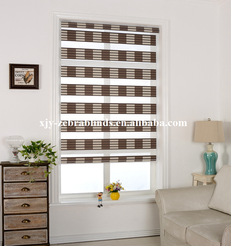 Double colors chain roller blinds with high quality
