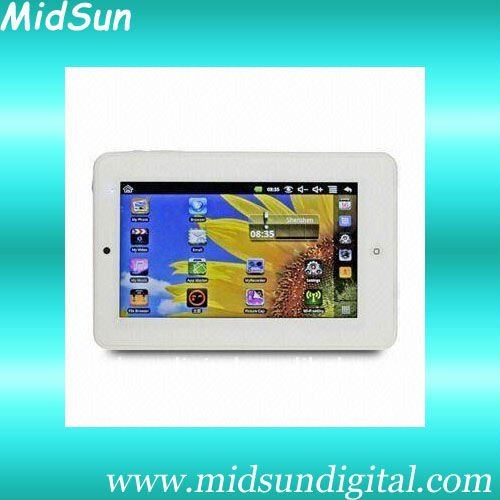 7 inch android 2.2 tablet pc Five Point Touch capacitive panel