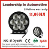 High power super bright 12v led tractor work light, black aluminum housing, spot or flood beam