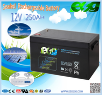 Hot-Selling High Capacity deep cycle solar battery 12v 250ah with 2 pcs 120ah battery in parallel