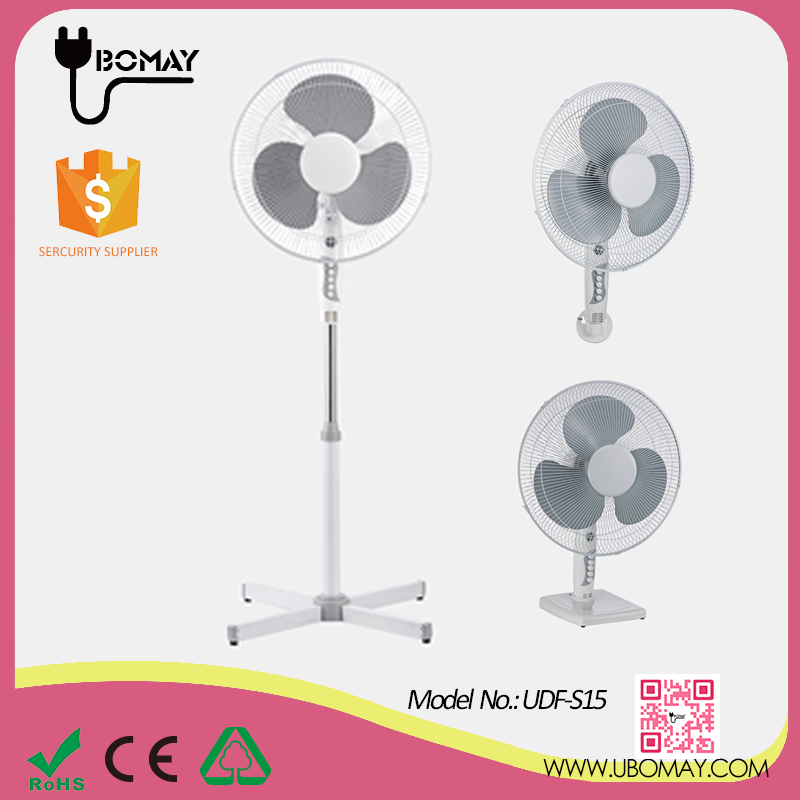 Fashionable 2017 3 in 1 Combination electric stand metal fan with wall and table tools