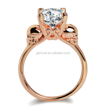 Gemnel jewelry wholesale smart ring fancy gold ring diamond drill bit engagement ring