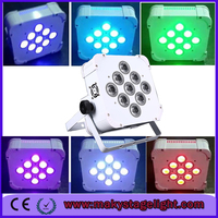 DJ Slim Flat Par DMX Wireless 3in1 RGB 9x6w LED Flat Par led uplights rgbaw