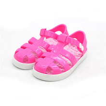 Beautiful Design Hot Sale Kids PVC Sandal Jelly Shoes Kids Plastic Shoes 2017