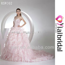 RSW302 Light Pink Wedding Dress