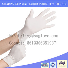 hot sale medical industry powder disposable latex gloves