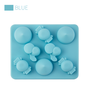Hot sale christmas silicone ice cube tray / cute candy shapes silicone ice cube tray