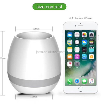 2017 best wholesale smart bluetooth music flower pots light up flowerpot with cheapest factory price