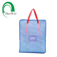 China factory large eco friendly folding handle laminated pp non woven shopping zipper bag