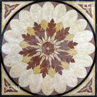 Natural marble British style home restaurant interior decoration design mosaic floor , marble mosaic of flower pattern