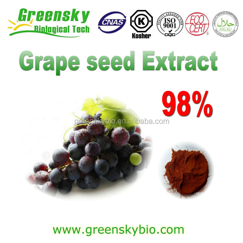 High quality OPC and polyphenol, Grape seed extract, very efficient antioxidant, anti-aging