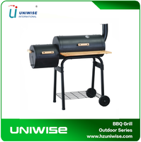 Heavy Two Barrel Charcoal BBQ Grill/ Outdoor Barbecue Commercial Smoker Grill