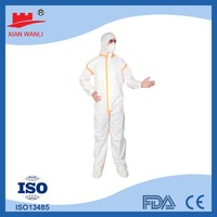 Type 5 6 Antistatic Waterproof Disposable Microporous Coveralls with Hood