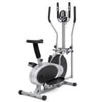 Indoor sport bike 2 in 1 magnetic elliptical cross trainer