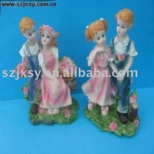 2011 Newest resin cartoon,cute baby figurine for wedding gifts